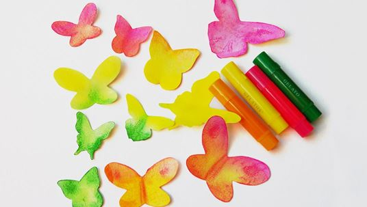 Gelatos - water soluble crayons - butterflies