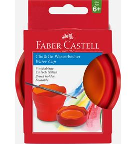 Faber-Castell - Water cup Clic&Go red