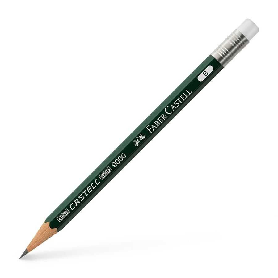 Faber-Castell - Perfect pencil Castell 9000 graphite pencil, B, spare pencil