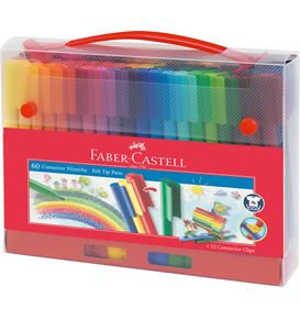 Faber-Castell - Connector felt-tip pen gift set 60 pieces