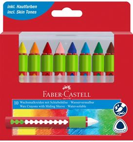 Faber-Castell - Wax crayons water soluble box of 10