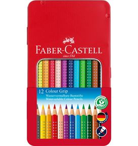 Faber-Castell - Coloured pencil Colour Grip tin of 12