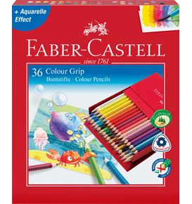 Faber-Castell - Coloured pencil Colour Grip studio box of 36
