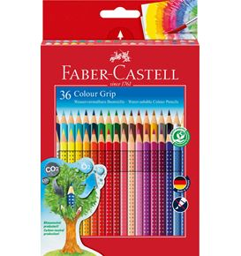 Faber-Castell - Colour pencil Colour Grip cardboard box of 36