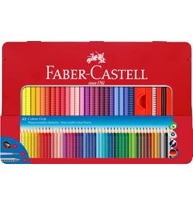 Faber-Castell - Colour Pencil Colour Grip 48 metal tin with accessories