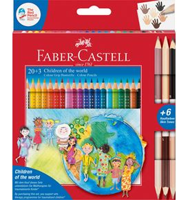 Faber-Castell - Colour Grip Children of the world pencil triangular 20+3