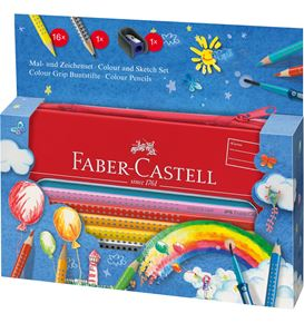 Faber-Castell - Colour Grip painting+drawing set balloon