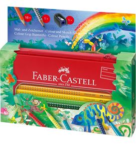 Faber-Castell - Colour Grip painting+drawing set jungle