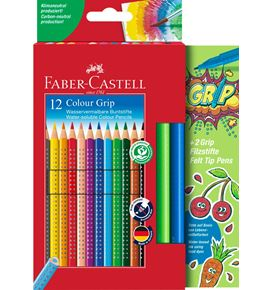 Faber-Castell - Promotion set 12 Colour Grip  + 2 Grip Colour Marker