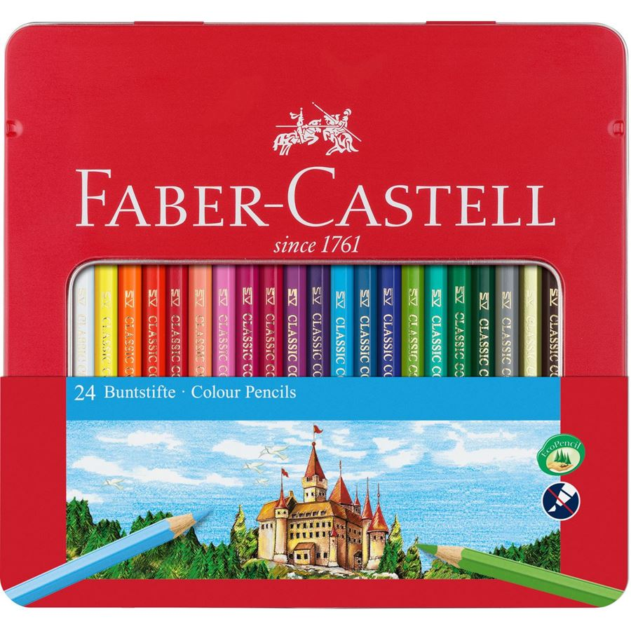 Faber-Castell - Classic Colour colour pencil, tin of 24