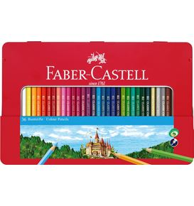 Faber-Castell - Colour pencils hexagonal tin 36x