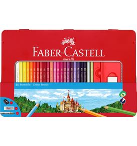 Faber-Castell - Colour pencils hexagonal tin 48x