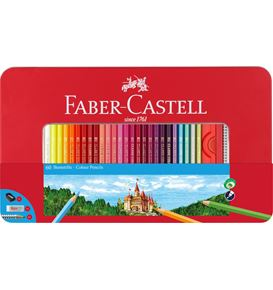 Faber-Castell - Colour pencils hexagonal tin 60x
