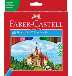 Faber-Castell - Coloured pencil Castle box of 48