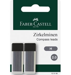 Faber-Castell - Compass leads 2 mm 2x6 pcs. H
