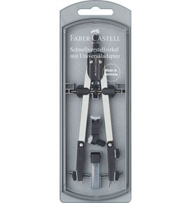 Faber-Castell - Quick set compass: with universal Adapter