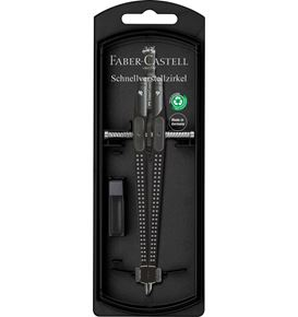 Faber-Castell - Quick-Set Compass GRIP black