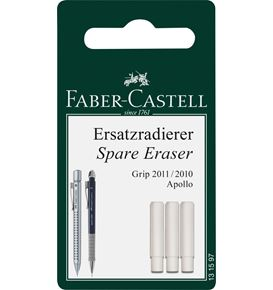 Faber-Castell - 3 Spare erasers Mechanical Pencil Grip 2011