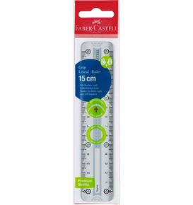 Faber-Castell - Grip ruler, 15 cm, break resistant, grey