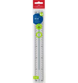 Faber-Castell - Grip ruler, 30 cm, break resistant, grey