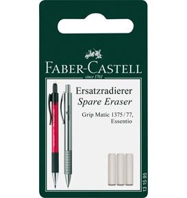 Faber-Castell - Grip Matic spare erasers for mechanical pencil, set of 3