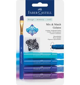 Faber-Castell - Watersoluble crayon Gelatos blue 6ct set