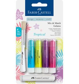 Faber-Castell - Watersoluble crayons Gelatos Tropical 6ct set