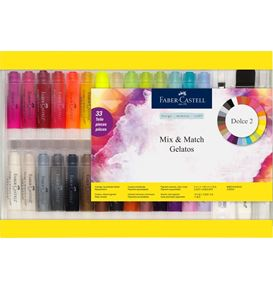 Faber-Castell - Gelatos water-soluble crayons, gift set, 33 pieces