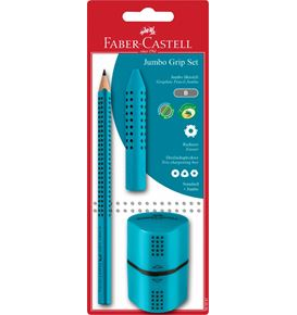 Faber-Castell - Jumbo Grip graphite pencil set, turquoise, 2 pieces