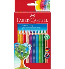 Faber-Castell - Coloured pencil Jumbo Grip cardboard box of 12 + sharpener