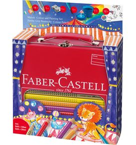 Faber-Castell - Jumbo Grip colour + painting set circus