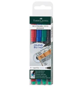 Faber-Castell - Marker Multimark permanent S wallet of 4