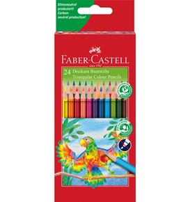 Faber-Castell - Coloured pencil triangular box of 24