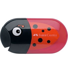 Faber-Castell - Double hole sharpener ladybug including eraser