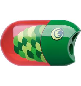 Faber-Castell - Double hole sharpener fish including eraser