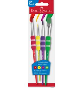 Faber-Castell - Brush Set with soft touch for school, crafts & hobby