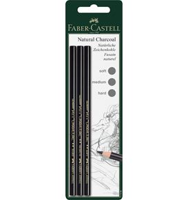 Faber-Castell - Charcoal pencil Pitt waxfree black