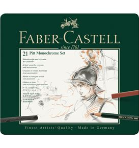 Faber-Castell - Set Pitt Monochrome tin of 21