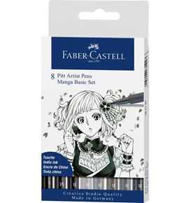 Faber-Castell - India ink Pitt Artist Pen B box of 8