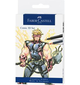 Faber-Castell - Comic Illustration 3D Set, 11 pieces
