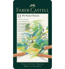 Faber-Castell - Colour pencil Pitt Pastel tin of 12