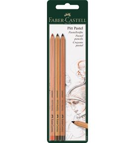 Faber-Castell - Pitt Pastel pencil, set of 3, brown