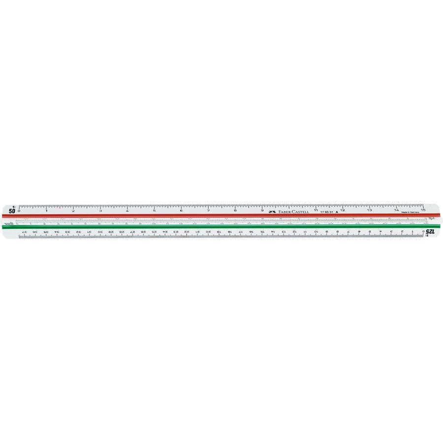 Faber-Castell - Reduction scale 853HP/A, triangular, 30 cm