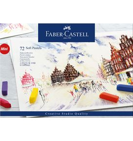 Faber-Castell - Soft pastels mini, cardboard wallet of 72