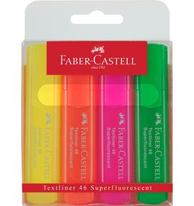 Faber-Castell - Highlighter Textliner 46 superfluorescent wallet of 4