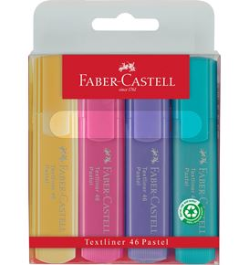 Faber-Castell - Textliner 46 Superflourescent + Pastel, wallet of 4