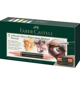 Faber-Castell - Albrecht Dürer Watercolour Marker, wallet of 5, Portrait