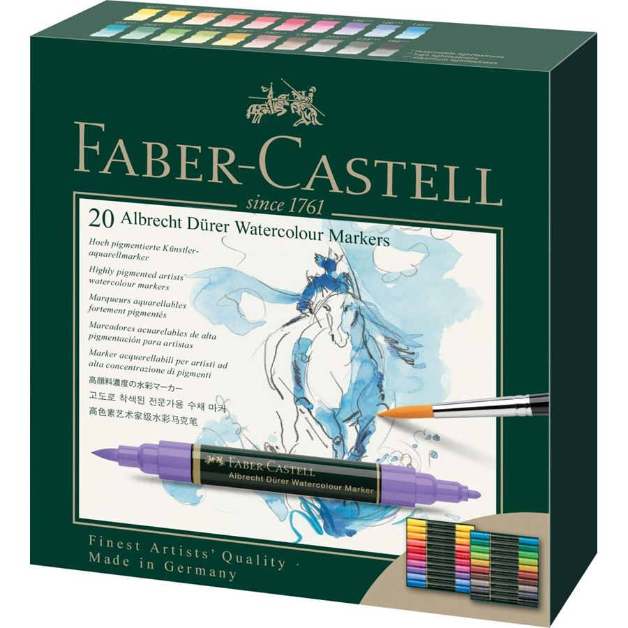 Faber-Castell - Albrecht Dürer Watercolour Marker, wallet of 20