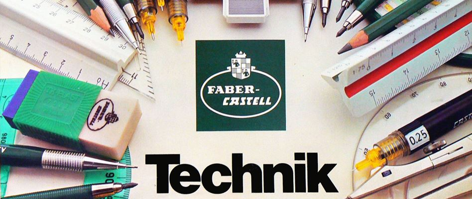 Advertising in the 1970s and 1980s - Billboard for a technical drawing instrument